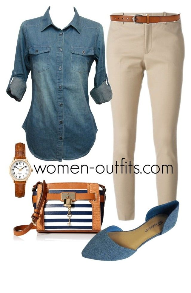 beige and denim by xwtiko on Polyvore featuring Gucci and Timex