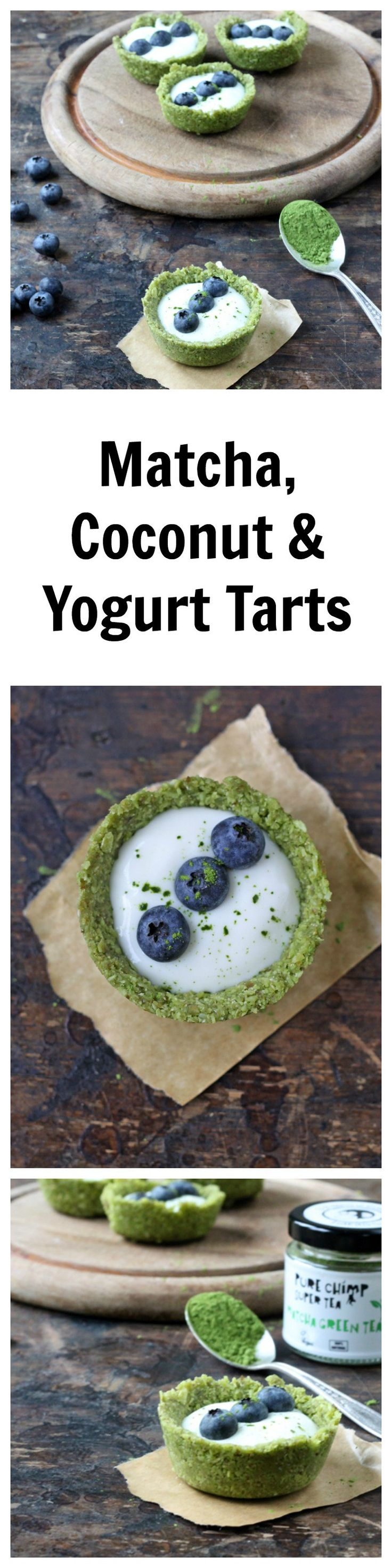 Matcha Green Tea, Coconut and Yogurt Tarts | Veggie Desserts Blog