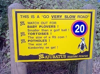 Go very slow road...