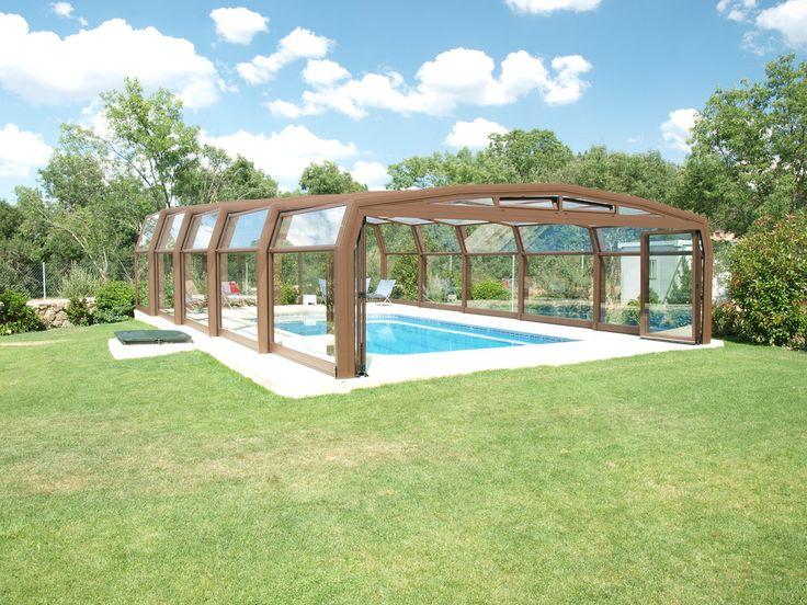 17 mejores ideas sobre cubiertas para piscinas en for Cubre piscinas desmontables
