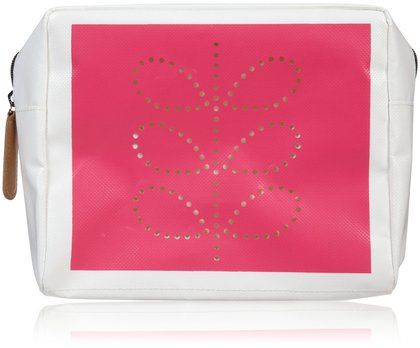 Orla Kiely Wash Bag, Neon Pink