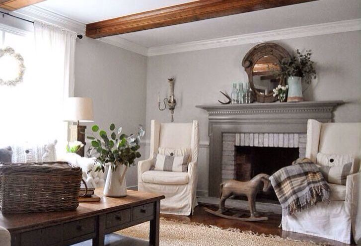 Wall Color Is Horizon Amp Fireplace Mantel Is Winter Gates