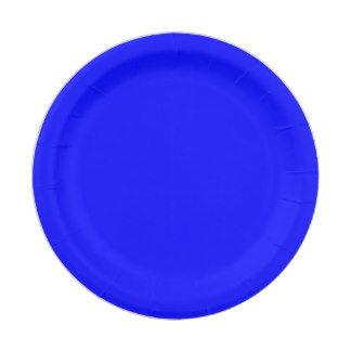Neon Blue Paper Plate 7 Inch Paper Plate