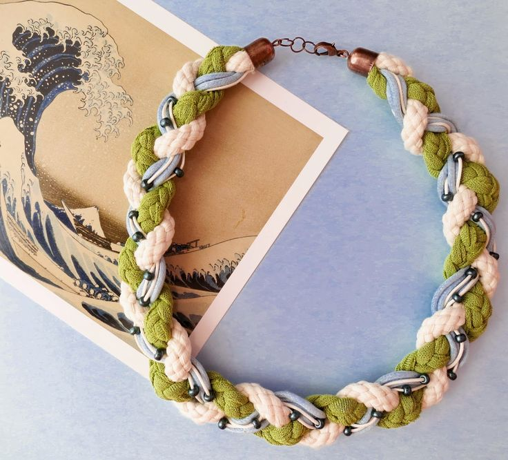 Braided Necklace with Small Beads