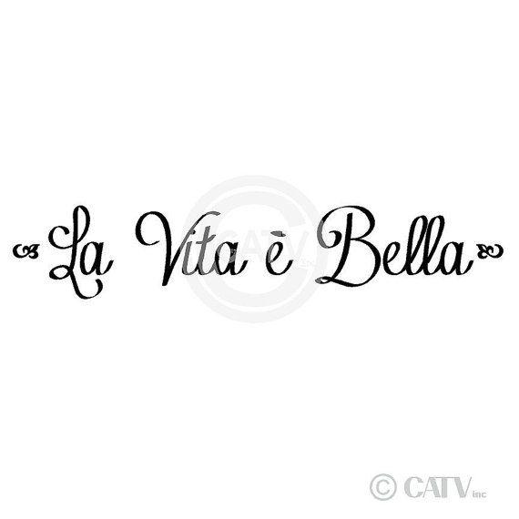 La Vita E Bella Life is Beautiful vinyl di VinylLettering su Etsy