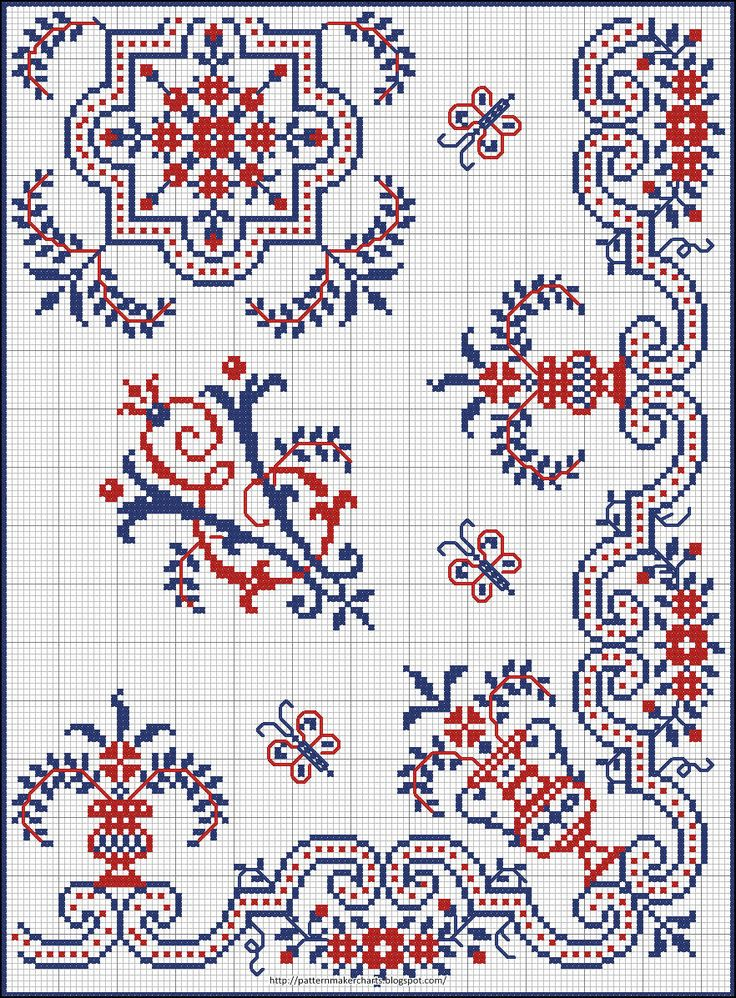 Free Easy Cross, Pattern Maker, PCStitch Charts + Free Historic Old Pattern Books: Sajou No185