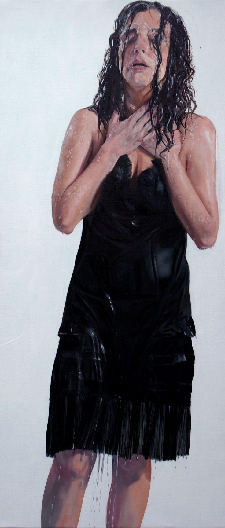 óleo sobre tela 180x 80 cm 2010.nicole tijoux