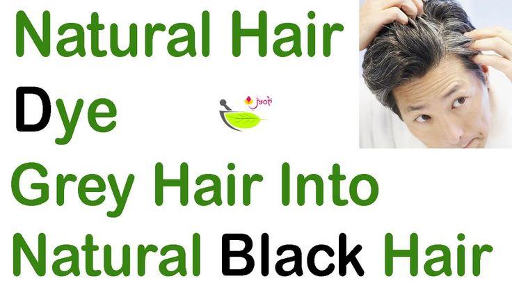 White Hair to black hair👩🏻Naturally🏠homemade hair dye👌  Natural Remedies...