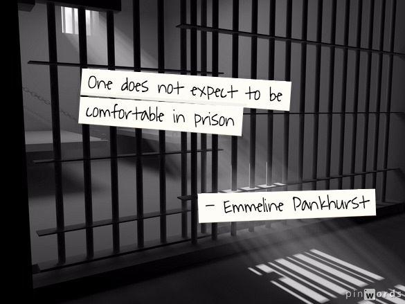 Emmeline Pankhurst prison