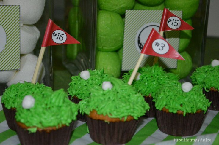 Party Golf Cupcakes!!!!