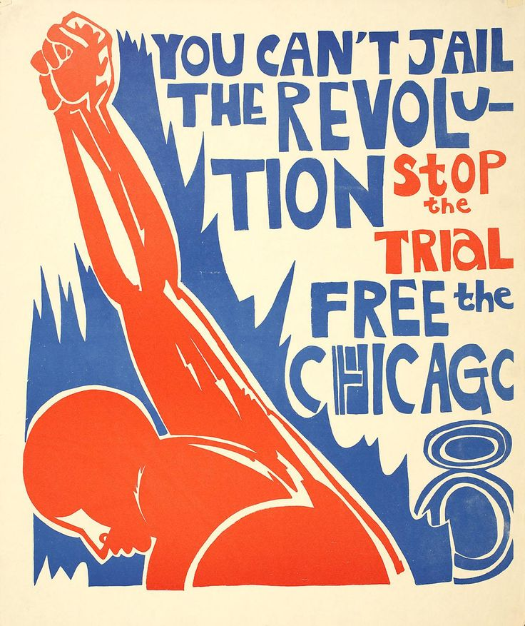 You can't jail the revolution : Free the Chicago 8, 1969 poster