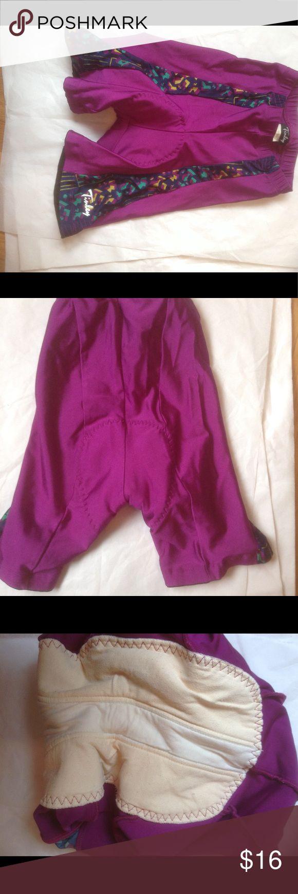 Internally medium padded cycle shorts TINLEY Nylon Spandex Padded Bike Bicycle Cycling Shorts, Purple, Women M tinley Shorts