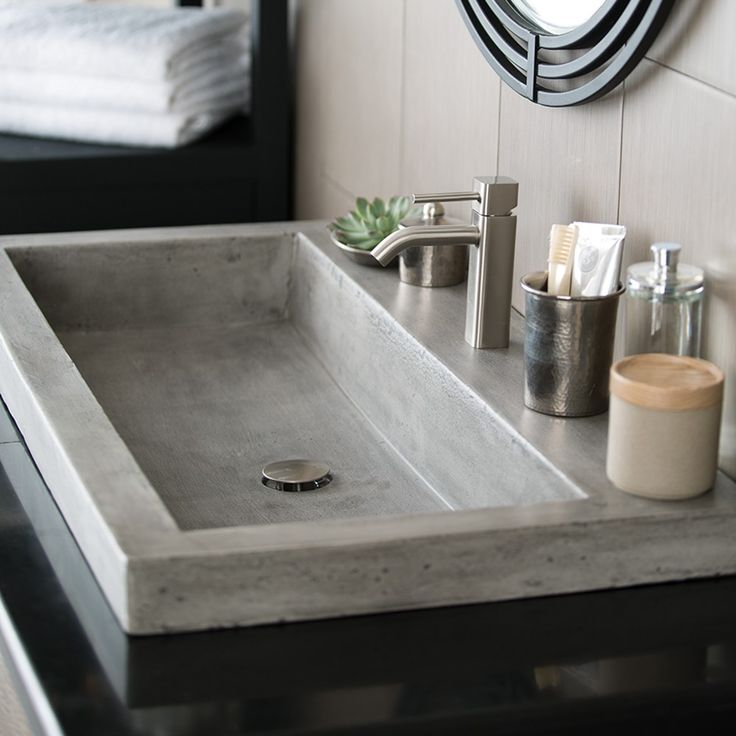 Trough 3619 NativeStone Bathroom Trough Sink | Native Trails