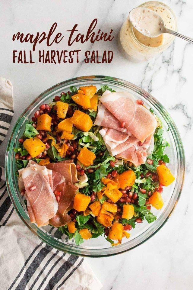 Maple Tahini Fall Harvest Salad