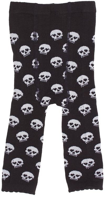 Black & White Skull Leggings from My Baby Rocks gothic baby clothes and gifts