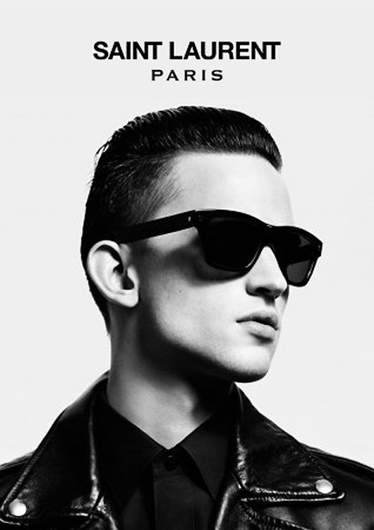 Saint Laurent Paris Autumn/Winter 2012-2013 eyewear campaign // Saint Laurent Paris campaña Outoño/Invierno 2012-2013 para hombre
