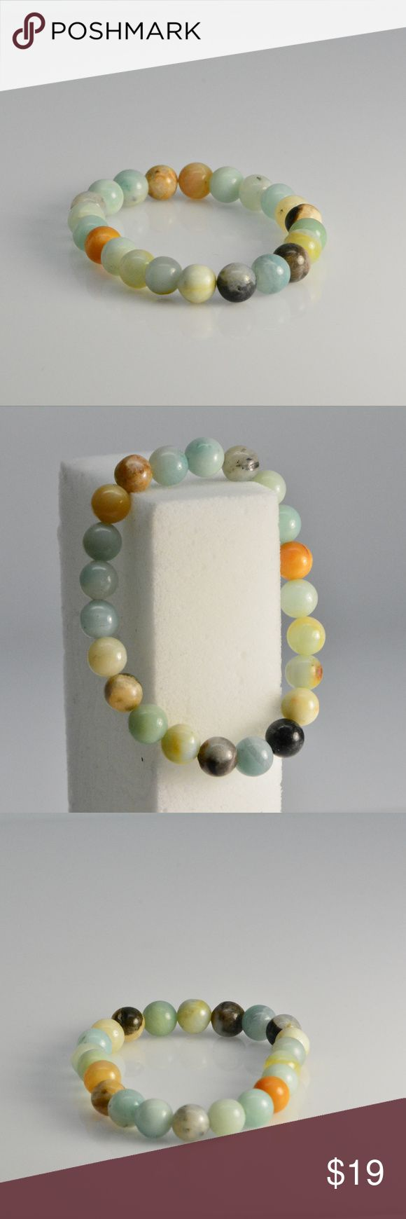 Multi color Amazonite bracelet - stretch bracelet Multi color Amazonite stretch bracelet using 8mm gemstone beads. Fits Small to large wrist sizes, These are natural Amazonite gemstones strung together with high quality stretch cord. Perfect for men and woman Vivi Fashion Jewelry Bracelets