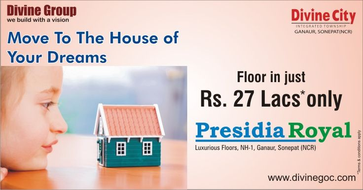 Premium quality floor is available at just Rs. 27 lacs only at #PresidiaRoyal of #DivineGroup. T&C Apply*