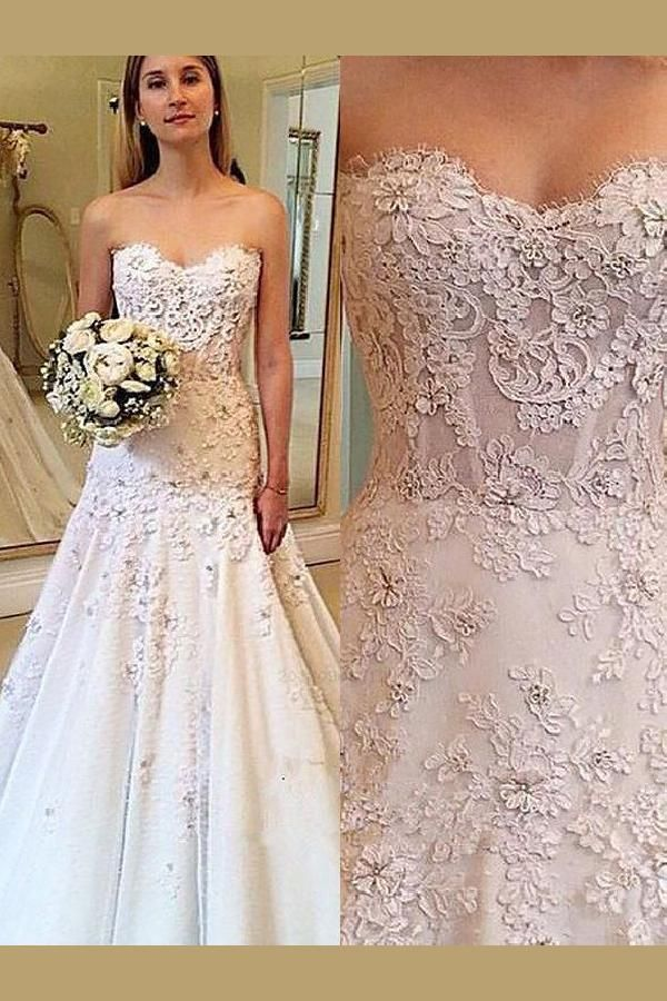 cfc69b2eb Wedding Dress For Cheap, Wedding Dress A-Line, Lace Wedding Dress  #WeddingDressForCheap #WeddingDressALine #LaceWeddingDress Wedding Dresses  2018