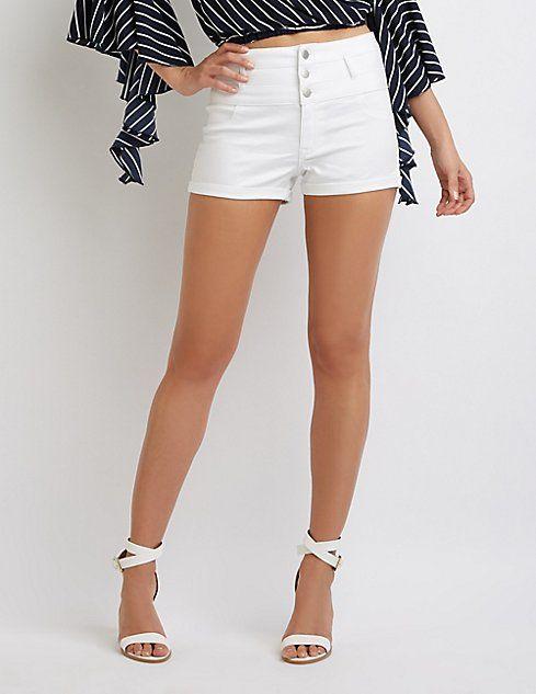 1ced6ced7c Refuge Hi-Waist Shortie Denim Shorts | Summer Outfits | Denim shorts ...