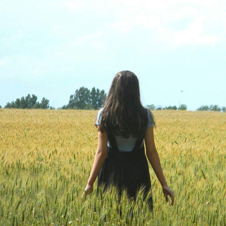 #girl #field #horizon