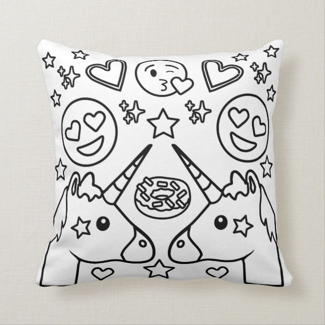 Coloring Book Unicorn Emoji Pillow Zazzle Com Unicorn Coloring Pages Emoji Pillows Emoji Coloring Pages