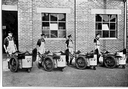 PH 13448. Street cleaners working for Prahran City Council; c.1941