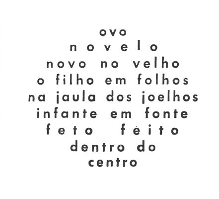 poema concreto Augusto de Campos, Brasil.