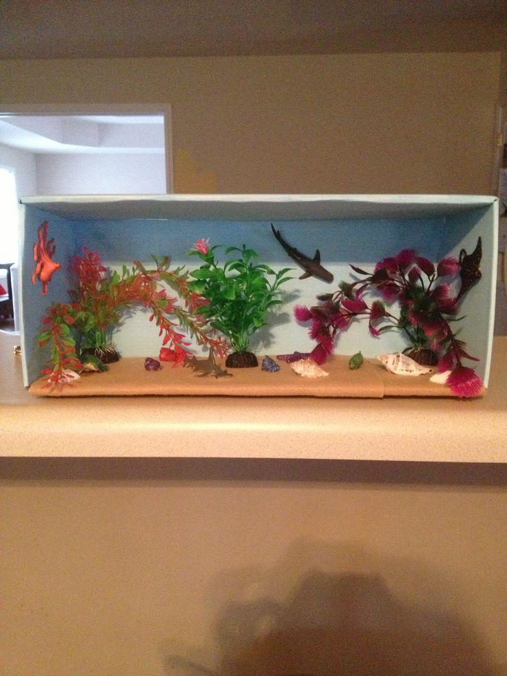 Matthew's project- Hammerhead Shark habitat diarama