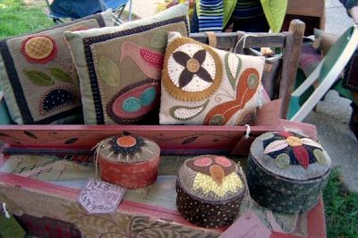 Different wool applique pieces by R. L. Smith