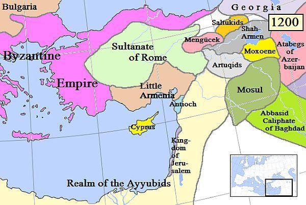 Armenia Cylicyjska w roku 1200.