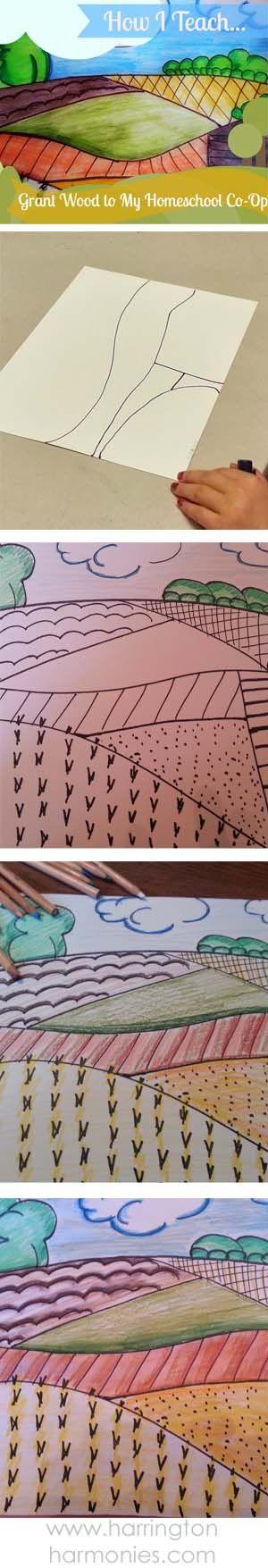 How I teach Art to my Homeschool Co-op | Harrington Harmonies