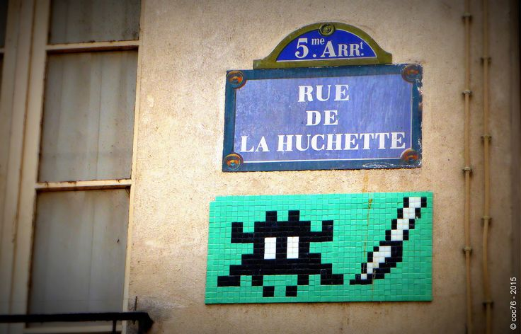 https://flic.kr/p/rSf93y | Invader - PA_874 | Invaders in Paris! ----------------------------------- PA-874 - Rue de la Huchette