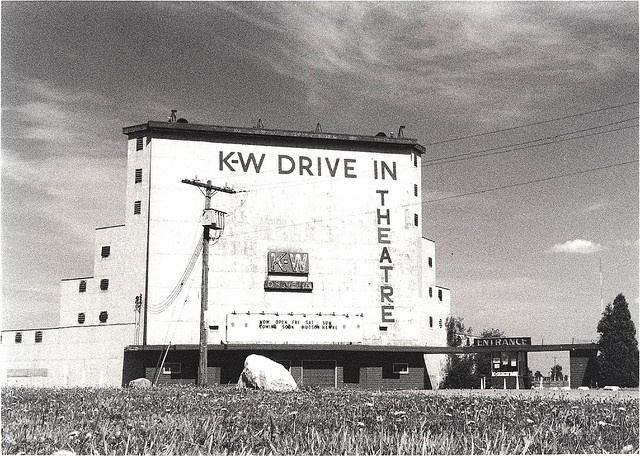 K-W Drive In Theatre, Bridgeport/Kitchener Ontario by stevesobczuk, via Flickr