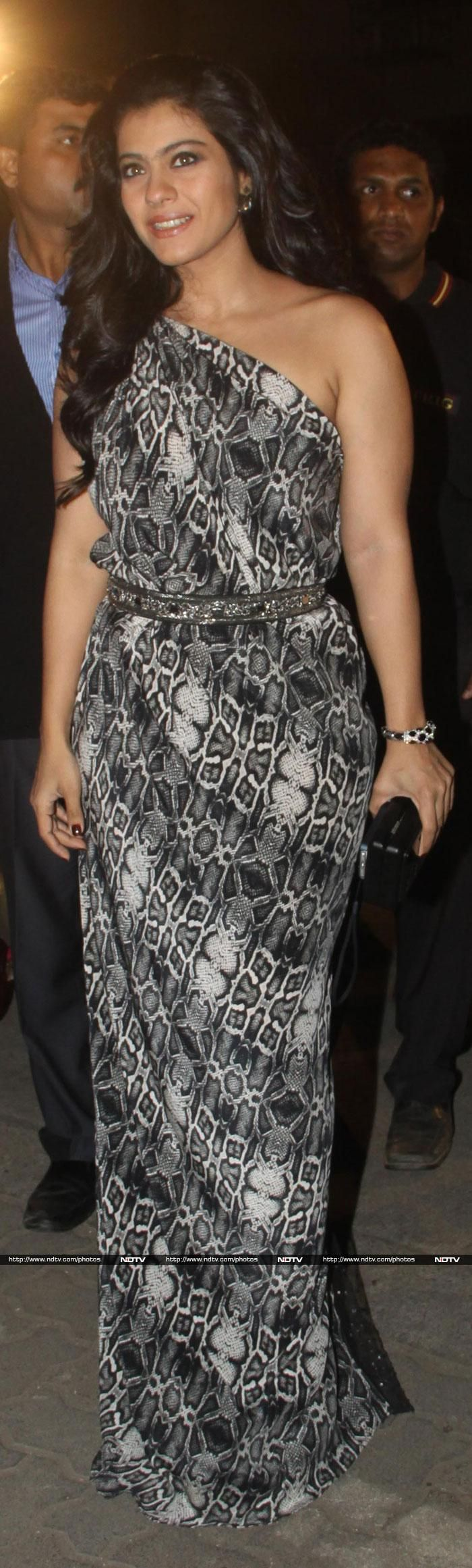 Kajol looked beautiful in a printed Nandita Mahtani gown