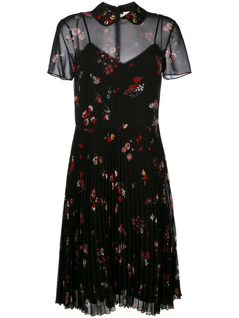 Shop Red Valentino floral print dress .