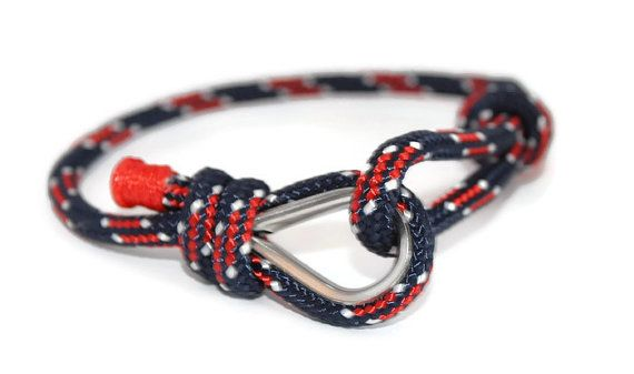 NAUTICAL BRACELET for HIM - Mens cord bracelet mens paracord bracelet men cord bracelet men bracelet nautical jewelry gift for him bracelet