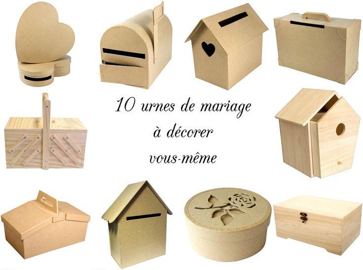 {Shopping} 10 urnes de mariage à décorer soi-même - La Mariée en Colère Blog Mariage, grossesse, voyage de noces