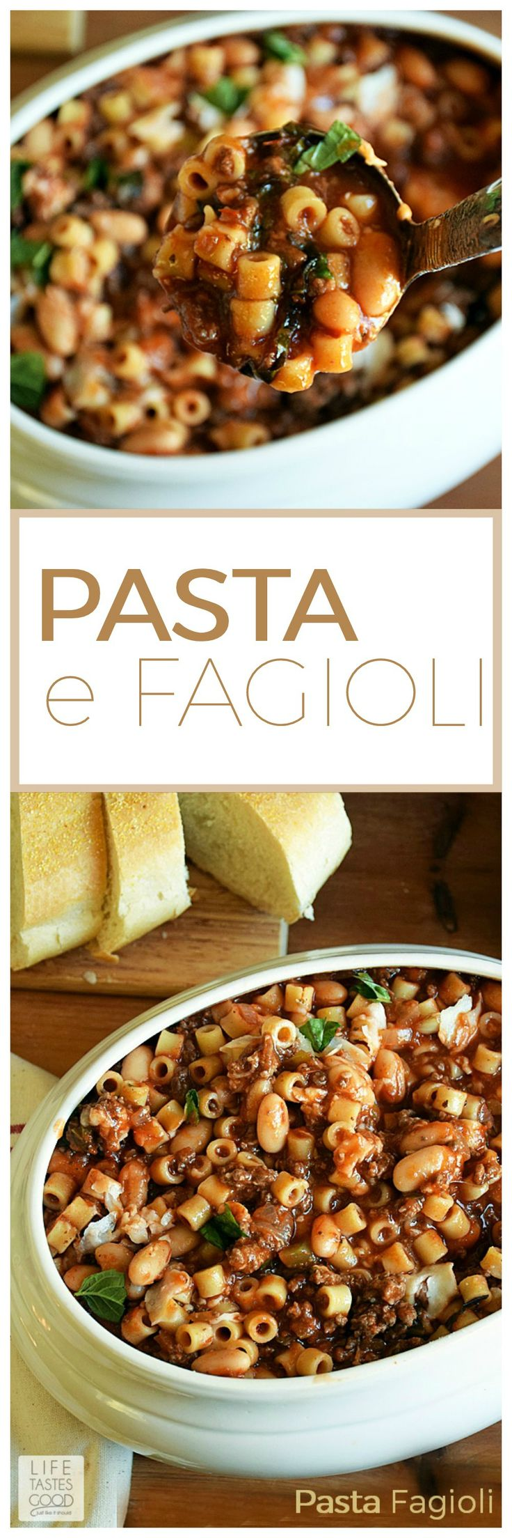 Pasta e Fagioli | by Life Tastes Good is a very hearty and satisfying ...