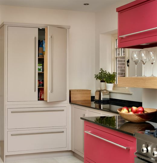 Linear L-Shaped Kitchen from Harvey Jones