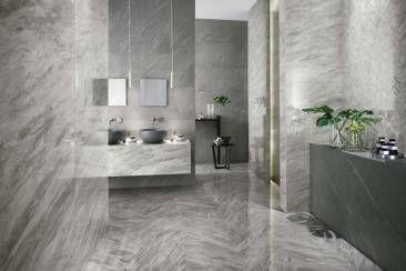 Brillanti pavimenti e rivestimenti effetto marmo per spazi