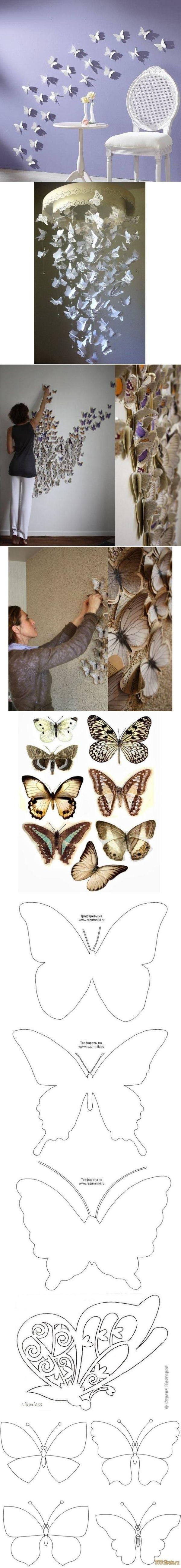 DIY Butterfly Pattern Wall Decor DIY Butterfly Pattern Wall Decor by diyforever