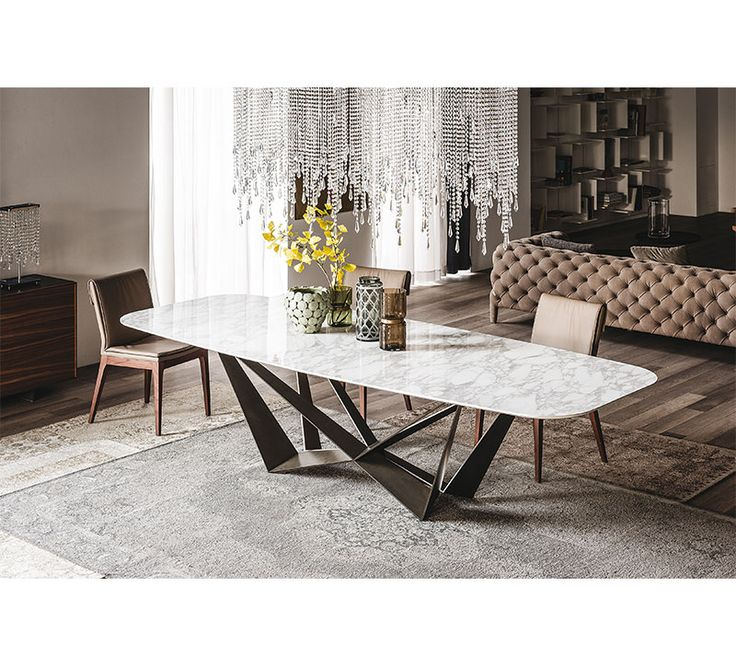 Designed And Crafted In Italy The Skorpio Modern Dining Room Table Adds Flair To With Your Choice Of A Glass Ceramic Or Oak Top