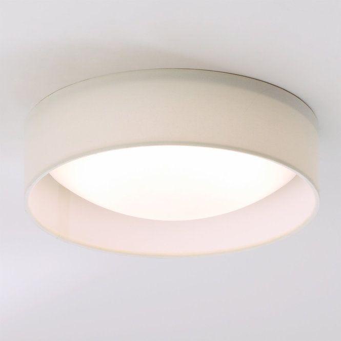 11 Led Linen Shade Ceiling Light Ceiling Lights Ceiling Mount