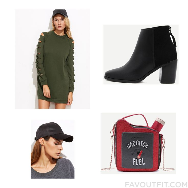 Look Things With Dress Short Boots Handbag And Baseball Cap Hat From November 2016 #outfit #look