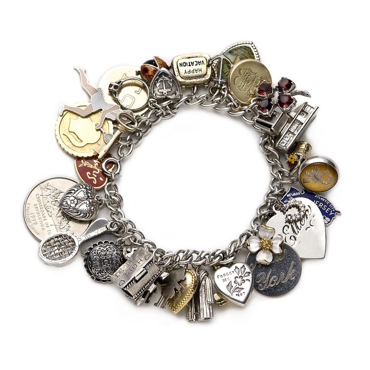 141 best images about vintage charm bracelets on
