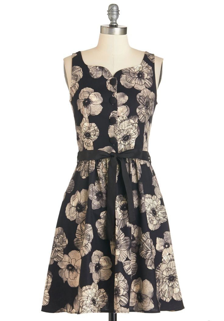 Roomie Reunion Dress. Impress the pal with whom you used to share a closet by arriving at lunch in this lovely black dress! #black #modcloth