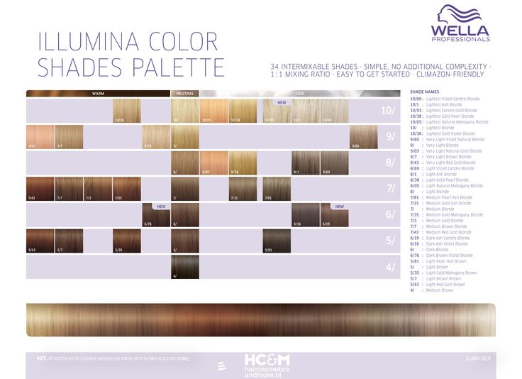 wella professionals illumina color shades palette 34 shades doin what i love in 2019