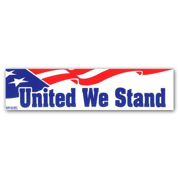 United we stand bumper sticker bs63096 democraticstuff com