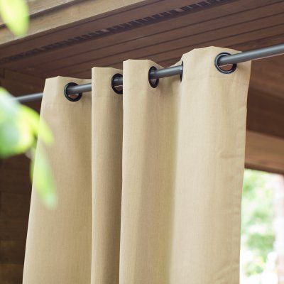 Coral Coast Sunbrella Outdoor Curtain Panel Cabana Emerald - 8691U-F58027, EASA001-62